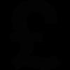 british pound money sign icon